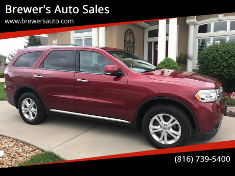 2013 Dodge Durango for sale at Brewer's Auto Sales in Greenwood MO