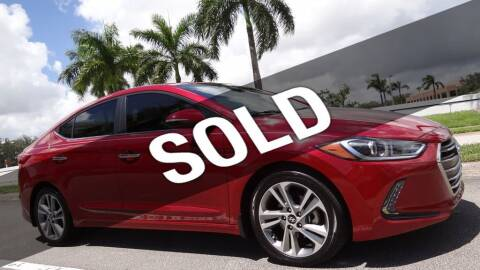 2017 Hyundai Elantra for sale at MOTORCARS in West Palm Beach FL