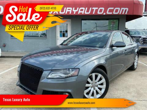2012 Audi A4 for sale at Texas Luxury Auto in Cedar Hill TX