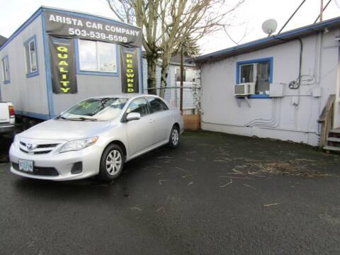 2011 Toyota Corolla for sale at ARISTA CAR COMPANY LLC in Portland OR