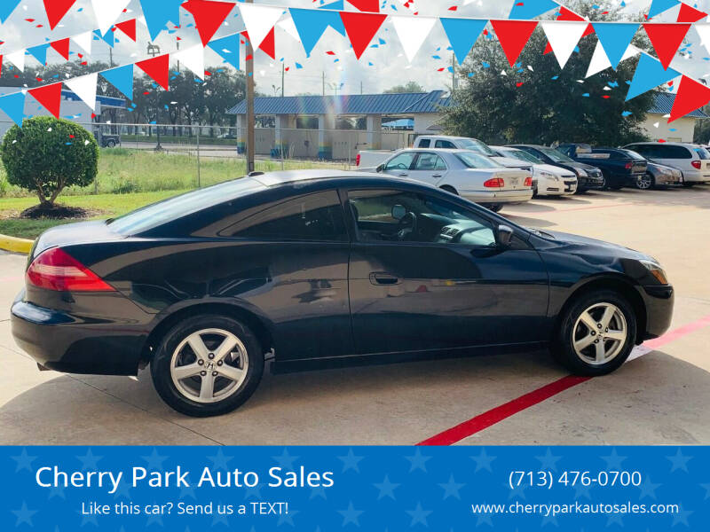 2004 Honda Accord for sale at Cherry Park Auto Sales in Houston TX