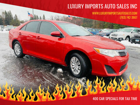 2013 Toyota Camry for sale at LUXURY IMPORTS AUTO SALES INC in North Branch MN