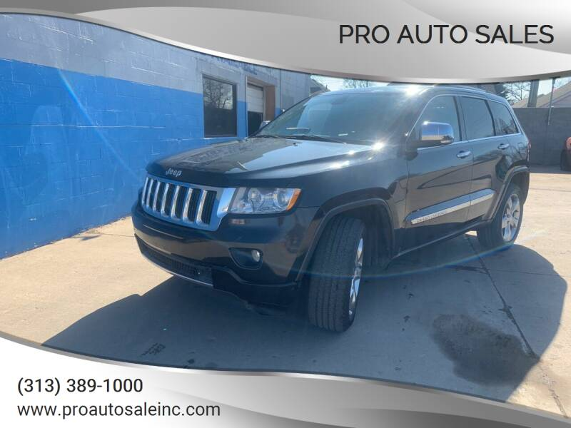 2011 Jeep Grand Cherokee for sale at Pro Auto Sales in Lincoln Park MI
