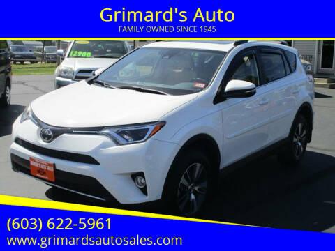 2017 Toyota RAV4 for sale at Grimard's Auto in Hooksett NH