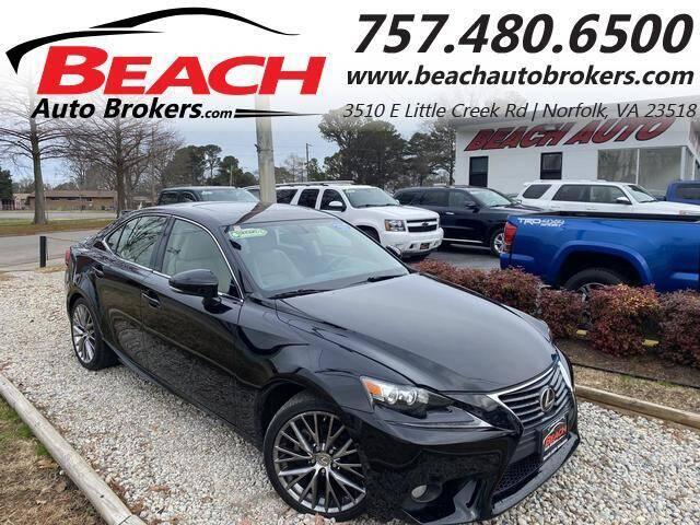 2014 Lexus IS 250 for sale at Beach Auto Brokers in Norfolk VA