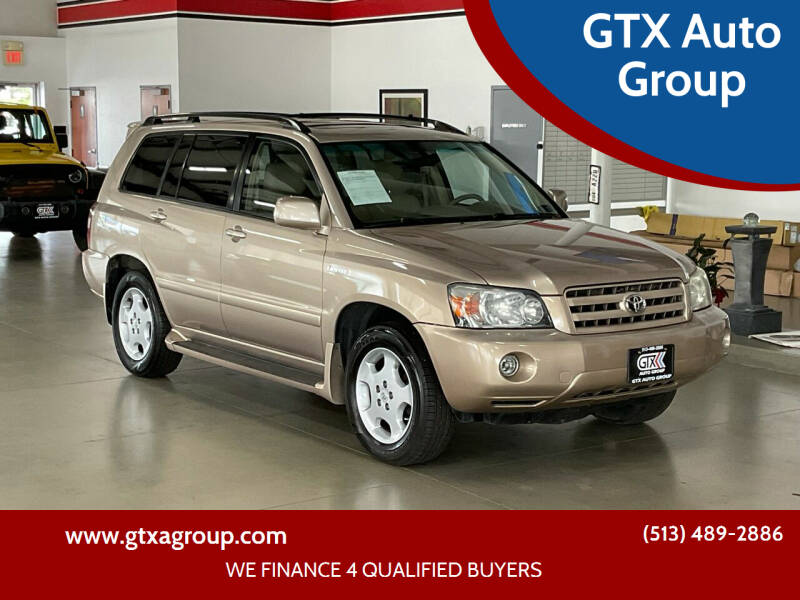 2004 Toyota Highlander for sale at GTX Auto Group in West Chester OH
