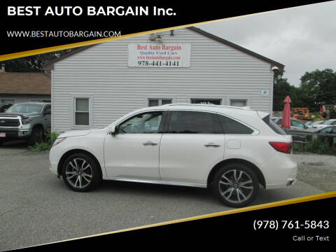 2019 Acura MDX for sale at BEST AUTO BARGAIN inc. in Lowell MA