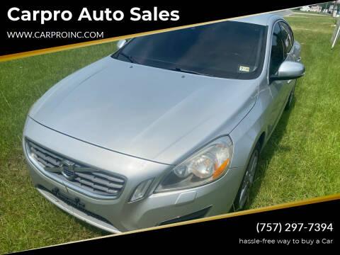 2012 Volvo S60 for sale at Carpro Auto Sales in Chesapeake VA