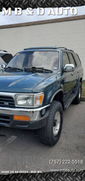 1995 Toyota 4Runner for sale at M B & D AUTO in Va Beach VA
