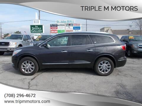 2013 Buick Enclave for sale at Triple M Motors in Saint John IN