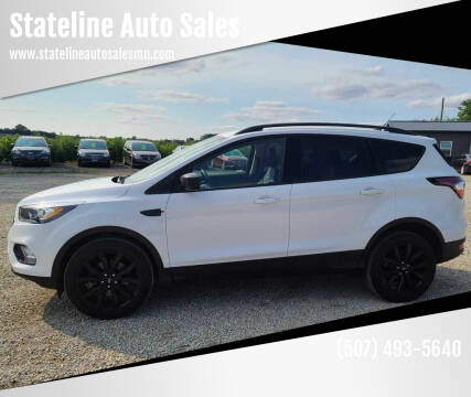 2018 Ford Escape for sale at Stateline Auto Sales in Mabel MN