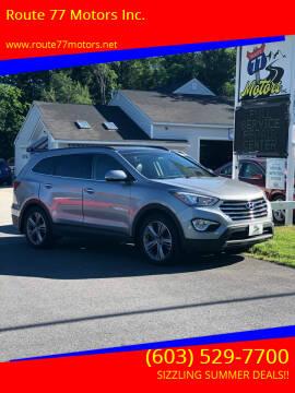 2016 Hyundai Santa Fe for sale at Route 77 Motors Inc. in Weare NH