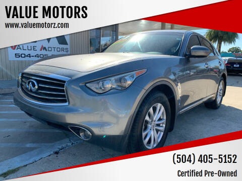 2013 Infiniti FX37 for sale at VALUE MOTORS in Kenner LA