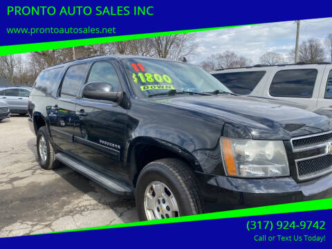 2011 Chevrolet Suburban for sale at PRONTO AUTO SALES INC in Indianapolis IN