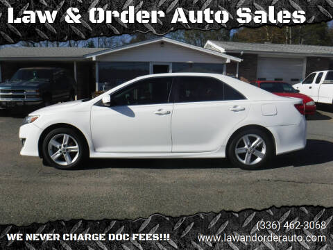 2013 Toyota Camry for sale at Law & Order Auto Sales in Pilot Mountain NC