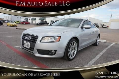 2011 Audi A5 for sale at F.M Auto Sale LLC in Dallas TX