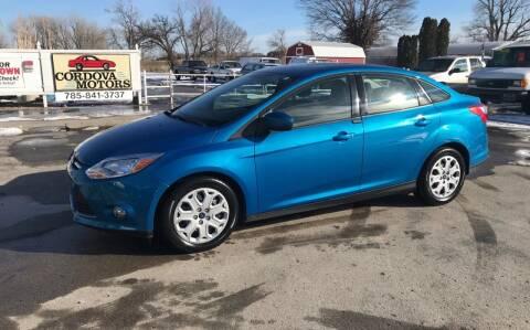 2012 Ford Focus for sale at Cordova Motors in Lawrence KS