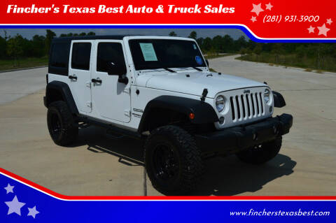 2017 Jeep Wrangler Unlimited for sale at Fincher's Texas Best Auto & Truck Sales in Tomball TX