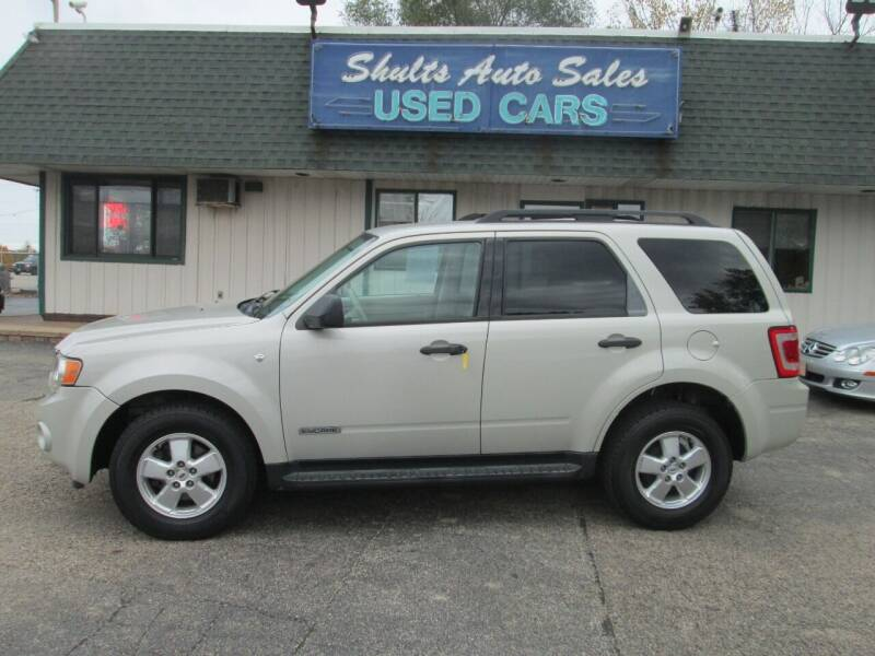 2008 Ford Escape for sale at SHULTS AUTO SALES INC. in Crystal Lake IL