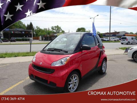 2009 Smart fortwo for sale at Cromax Automotive in Ann Arbor MI