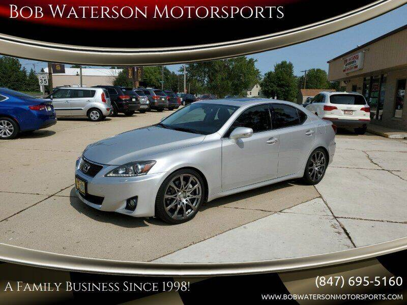 2011 Lexus IS 350 for sale at Bob Waterson Motorsports in South Elgin IL