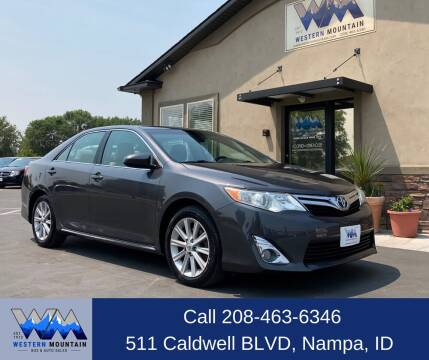 2012 Toyota Camry for sale at Western Mountain Bus & Auto Sales in Nampa ID