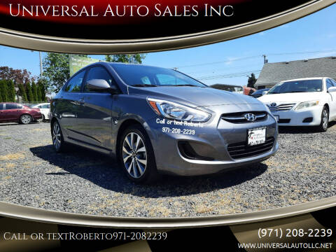 2017 Hyundai Accent for sale at Universal Auto Sales Inc in Salem OR