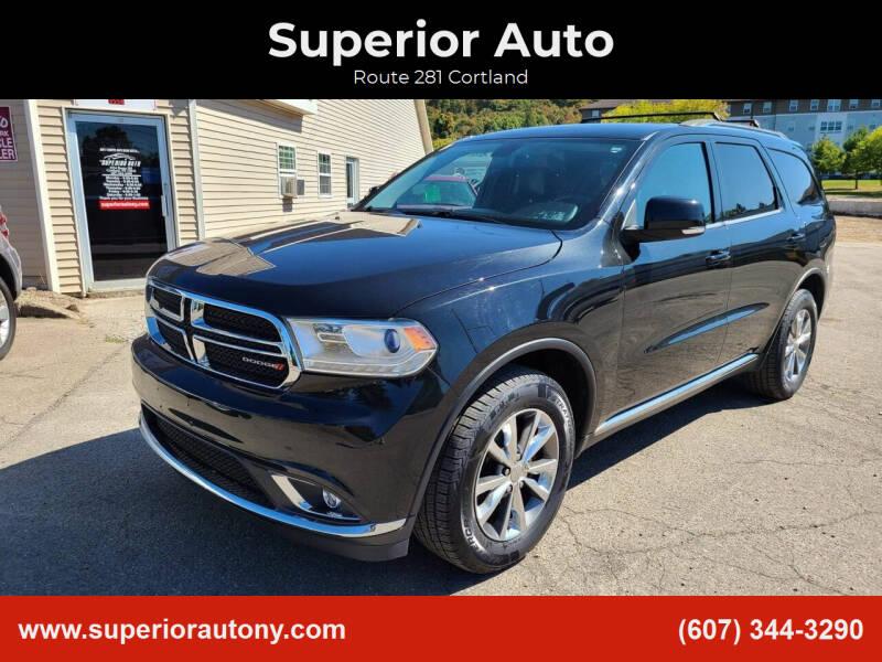 2014 Dodge Durango for sale at Superior Auto in Cortland NY