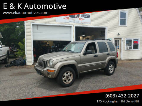 2004 Jeep Liberty for sale at E & K Automotive in Derry NH
