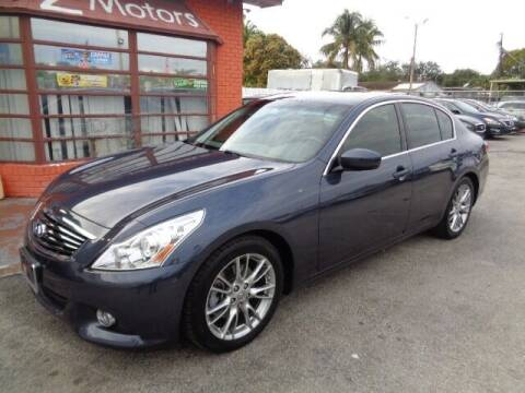 2012 Infiniti G37 Sedan for sale at Z MOTORS INC in Hollywood FL