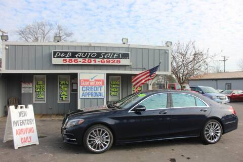 2015 Mercedes-Benz S-Class for sale at D & B Auto Sales LLC in Washington Township MI