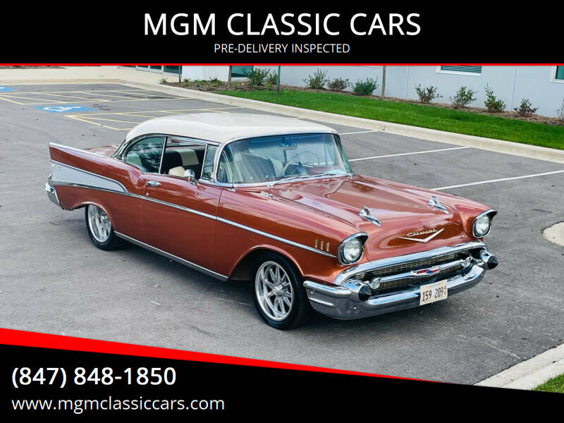 1957 Chevrolet Bel Air for sale at MGM CLASSIC CARS-New Arrivals in Addison IL
