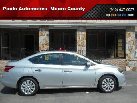 2016 Nissan Sentra for sale at Poole Automotive in Laurinburg NC