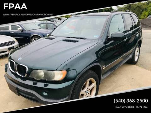 2001 BMW X5 for sale at FPAA in Fredericksburg VA