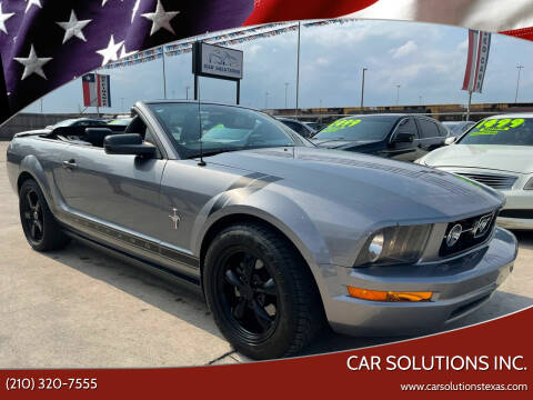 2007 Ford Mustang for sale at Car Solutions Inc. in San Antonio TX
