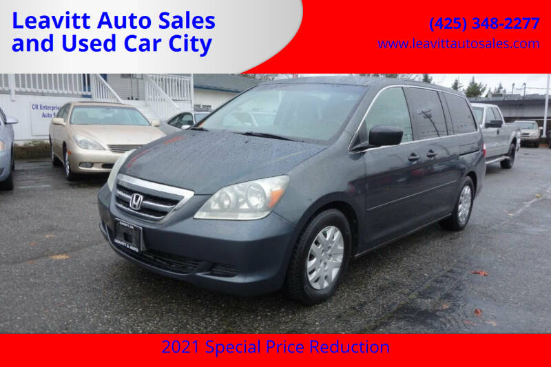 2006 Honda Odyssey for sale at Leavitt Auto Sales and Used Car City in Everett WA