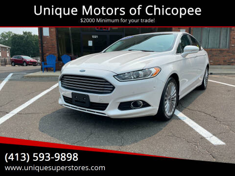 2015 Ford Fusion for sale at Unique Motors of Chicopee in Chicopee MA