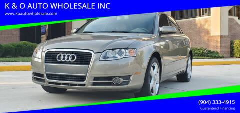 2005 Audi A4 for sale at K & O AUTO WHOLESALE INC in Jacksonville FL