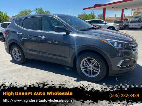2018 Hyundai Santa Fe Sport for sale at High Desert Auto Wholesale in Albuquerque NM