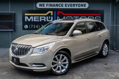 2013 Buick Enclave for sale at Meru Motors in Hollywood FL