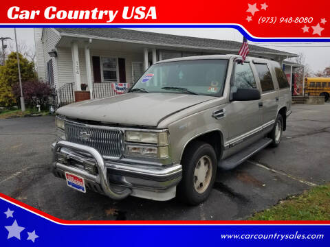 1999 Chevrolet Tahoe for sale at Car Country USA in Augusta NJ