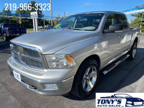 2010 Dodge Ram Pickup 1500 for sale at Tonys Auto Sales Inc in Wheatfield IN