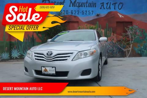 2010 Toyota Camry for sale at DESERT MOUNTAIN AUTO LLC in Tucson AZ