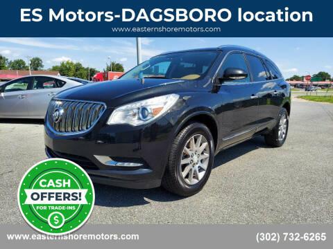 2014 Buick Enclave for sale at ES Motors-DAGSBORO location in Dagsboro DE