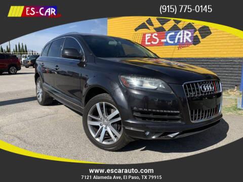 2013 Audi Q7 for sale at Escar Auto in El Paso TX