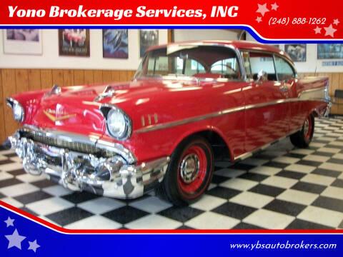 1957 Chevrolet Bel Air for sale at Yono Brokerage Services, INC in Farmington MI