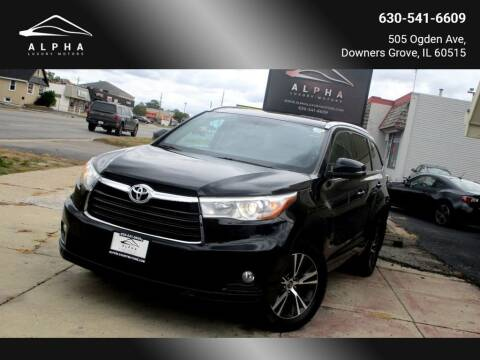 2016 Toyota Highlander for sale at Alpha Luxury Motors in Downers Grove IL