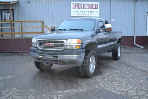 2001 GMC Sierra 2500HD for sale at Dave's Auto Sales in Winthrop MN