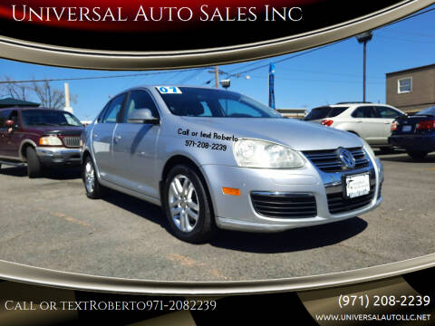 2007 Volkswagen Jetta for sale at Universal Auto Sales Inc in Salem OR