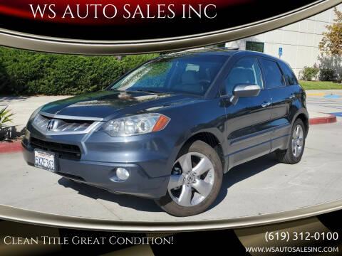 2007 Acura RDX for sale at WS AUTO SALES INC in El Cajon CA